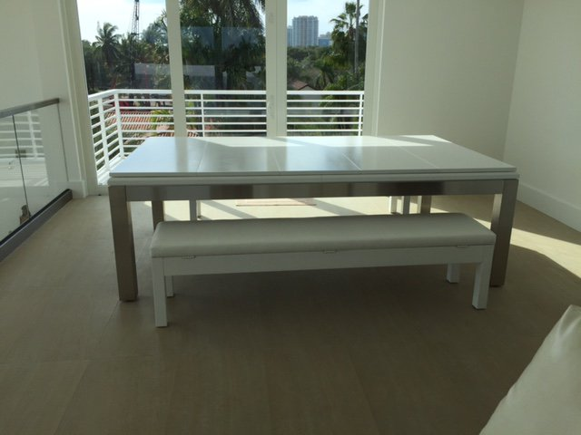 La Condo Stainless Steel Dining - Pool Table